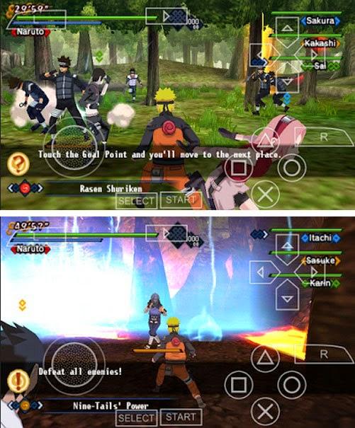 ROM PPSSPP Naruto KIZUNA iso