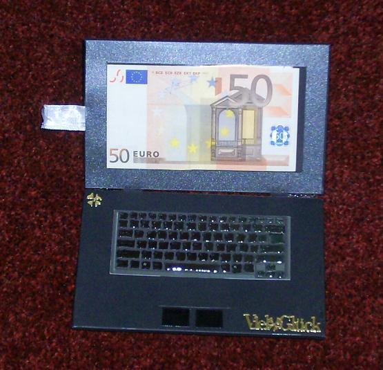 Geldgeschenk Laptop Basteln