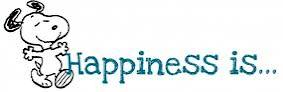... happiness is i think of snoopy i guess i am from the snoopy generation