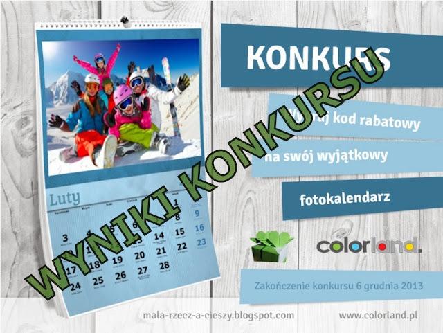 Wyniki konkursu z Colorland.pl