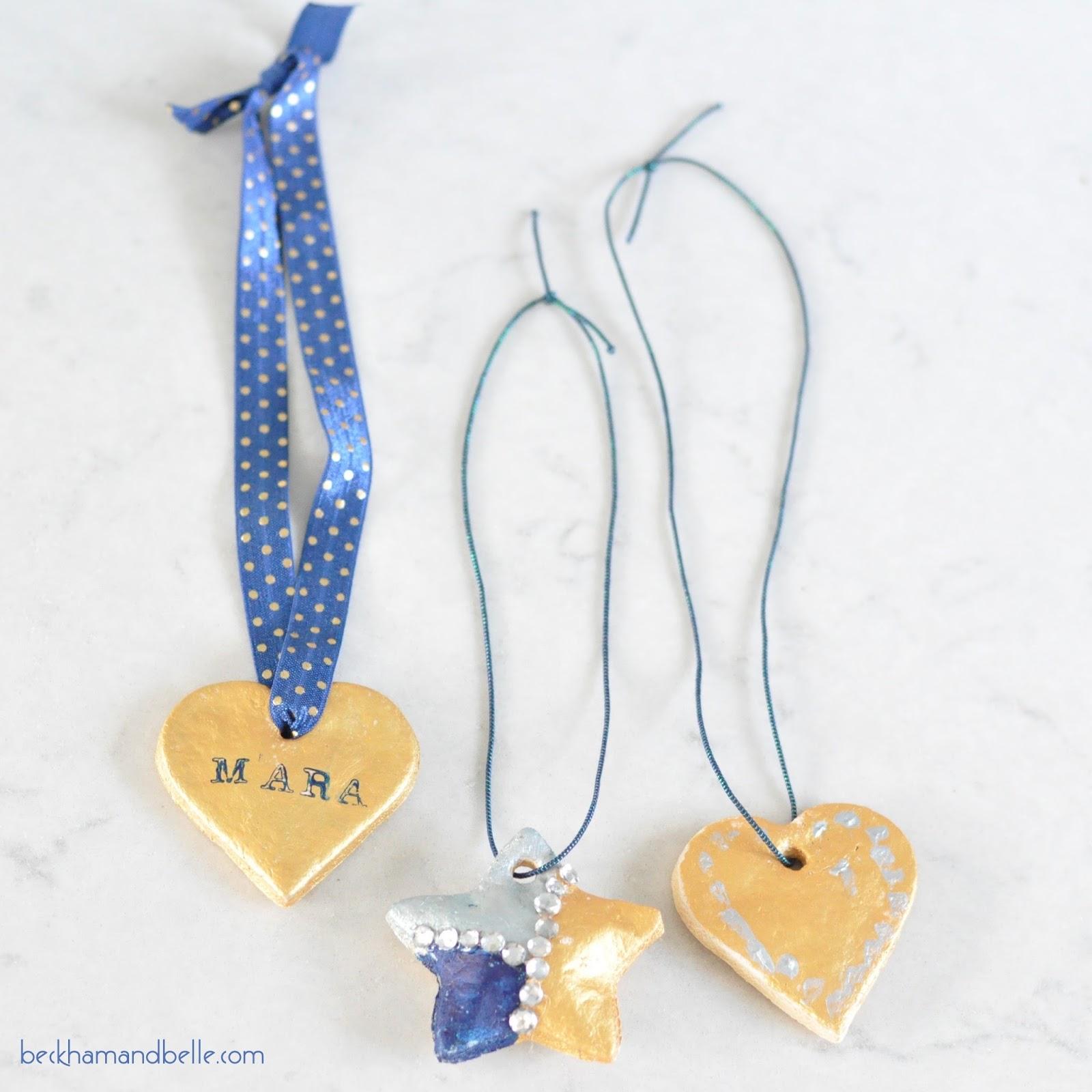 DIY Salt Dough Pendant Necklaces for Kids