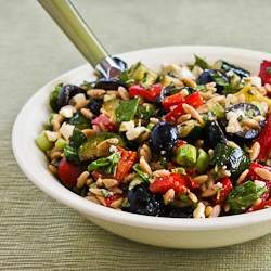 Whole Wheat Orzo and Grilled Vegetable Salad Recipe with ...