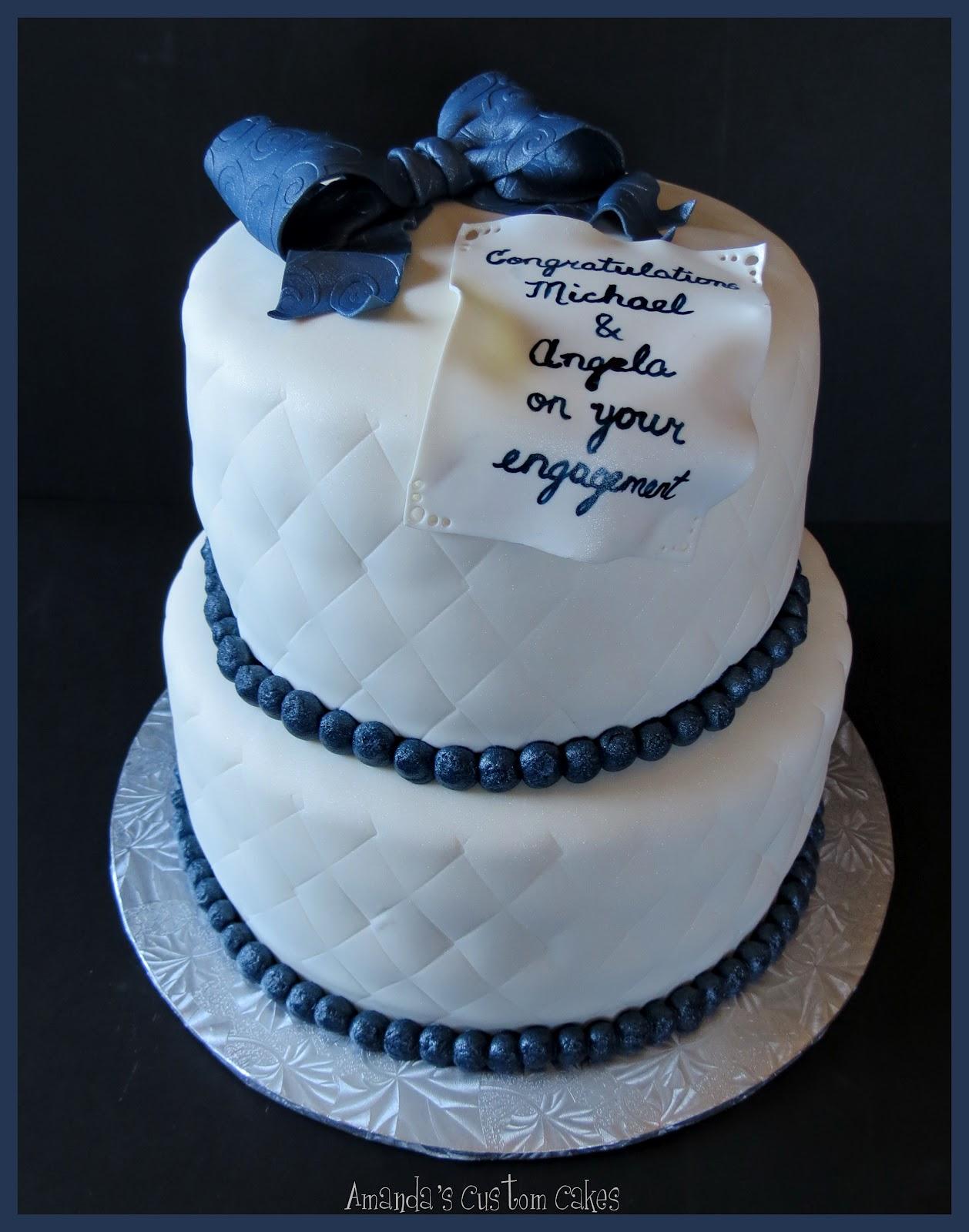 Engagement Party Cake Images : Amanda s Custom Cakes: Engagement Party Cake