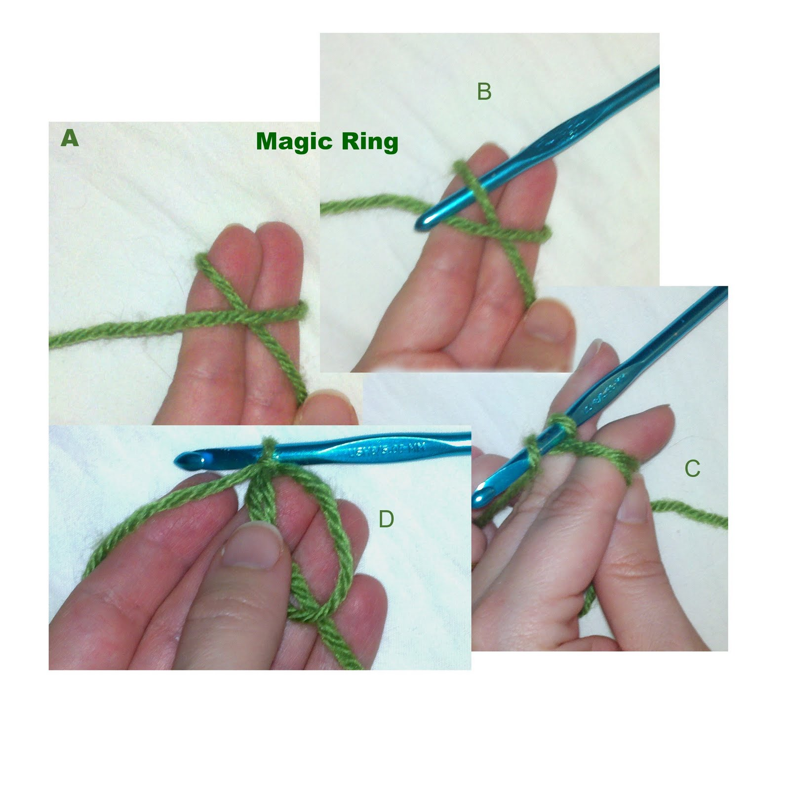Crochet Magic Loop : the magic ring and can make your first round of stitches the ring ...