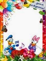 Moldura Pato Donald e Margarida