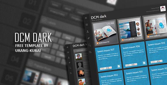 DCM Dark Responsive Blogger Templates