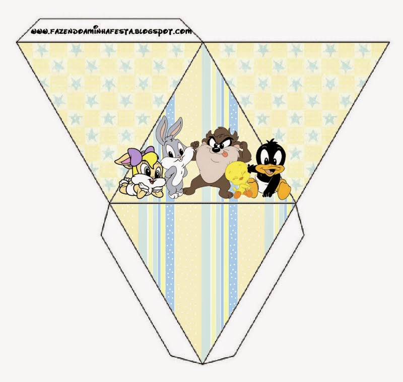 Free Printable Pyramid Box of Lonney Tunes Babies.