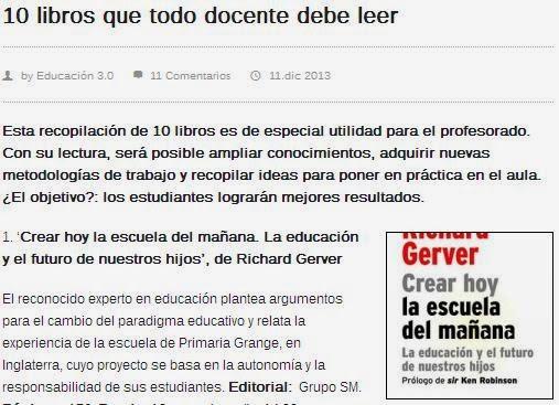http://www.educaciontrespuntocero.com/formacion/libros/10-libros-que-todo-docente-debe-leer/12535.html