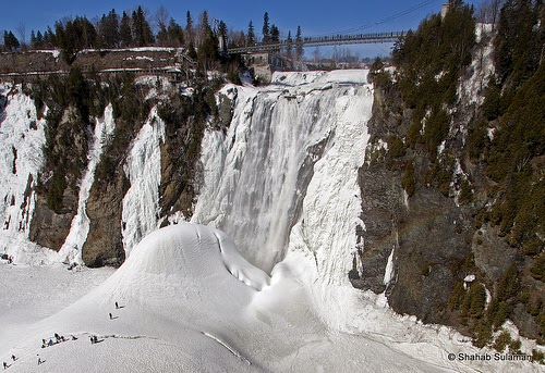 Montmorency Falls in Quebec, Canada