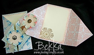 How to make a Diamond Gate Fold Card www.feeling-crafty.co.uk