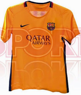 gambar photo Jersey Barcelona away terbaru musim depan 2015/2016