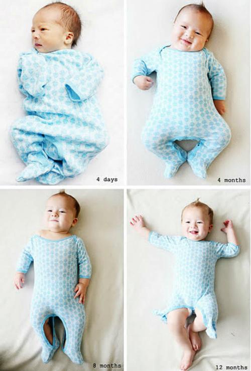 Fabuloso 10 Ideias super fofas para fotografar seu bebê mês a mês | Mãe de Guri YA64