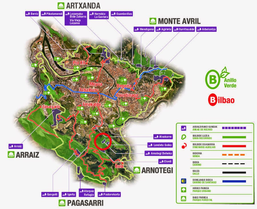 Mar cant brico el macizo de ganecogorta - Anillo verde ciclista madrid mapa ...