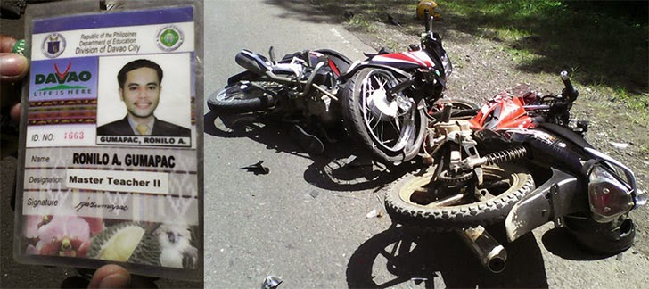 Motorcycle Collision Kills Teacher