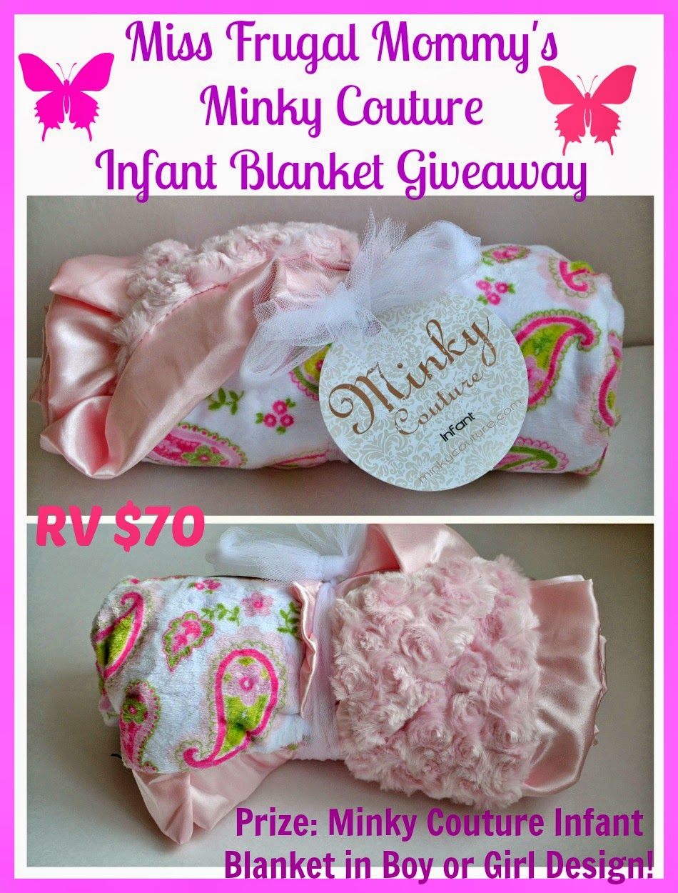 Minky Couture Infant Blanket Giveaway