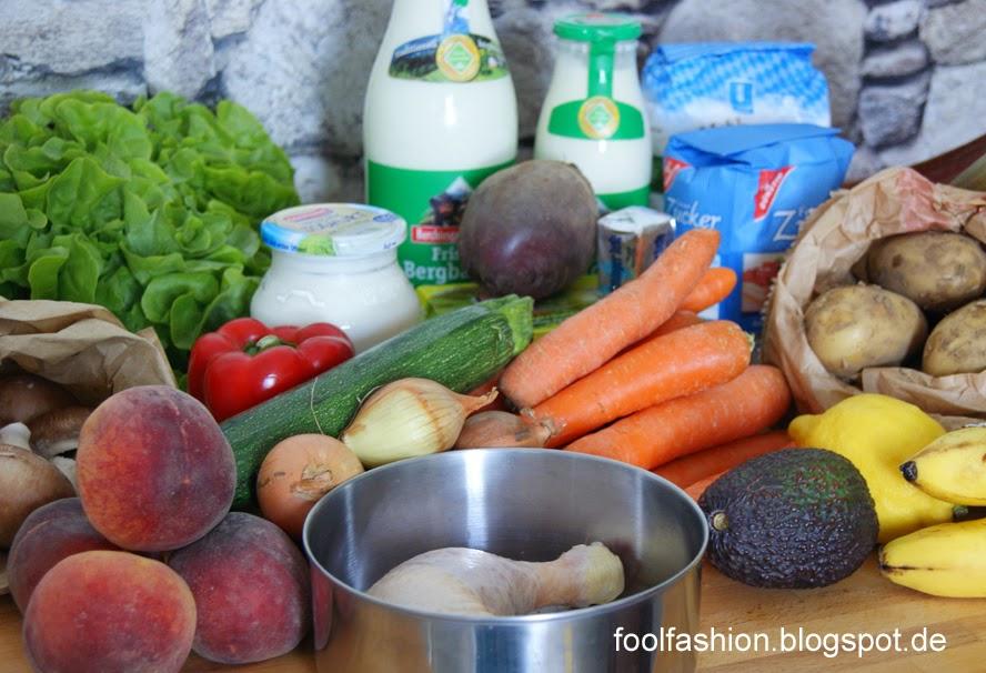 plastikfreier Einkauf vom Bauernmarkt und Supermarkt