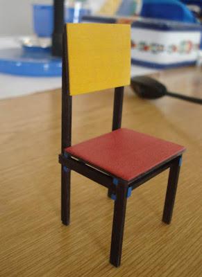 Miniature,Chaise,Gerrit Rietveld,Vincelles,Didier WETZEL