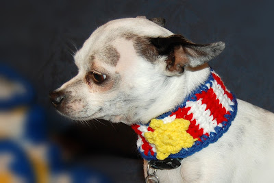 Patriotic Dog Collar Free Crochet Pattern Sara Sach