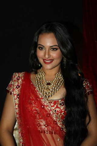 Sonakshi Sinha in Bridal Saree