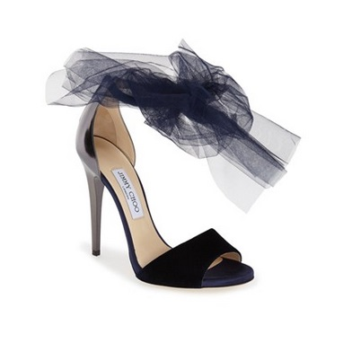 Jimmy Choo barely there high heel stiletto sandals with jumbled mesh on straps