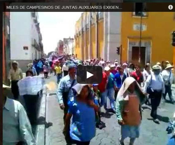 VIDEO: EDILES AUXILIARES Y CAMPESINOS PIDEN REGRESO DE REGISTRO CIVIL Y RENUNCIA DE GOBERNADOR.