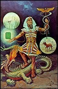 Hermes Parado sobre el Lomo de Tifón