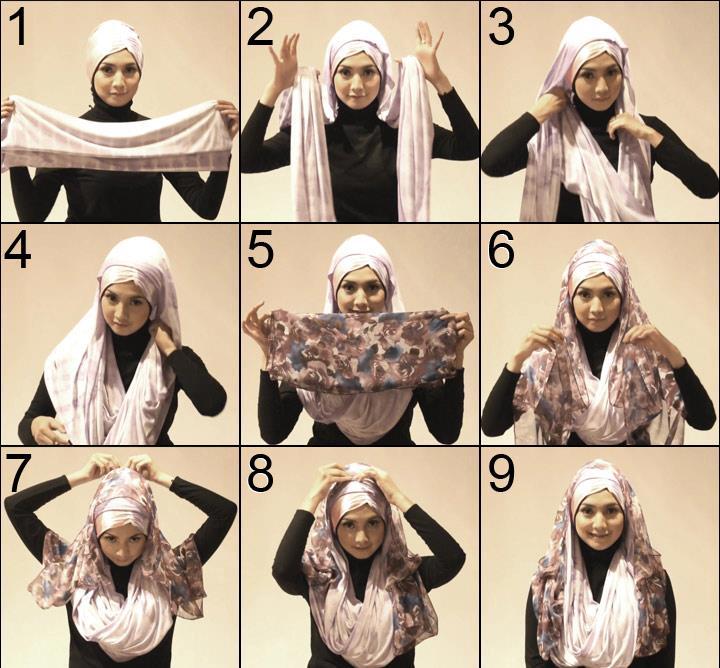 Simple Hijab Tutorial 2013 ~ Busana Muslim Terbaru