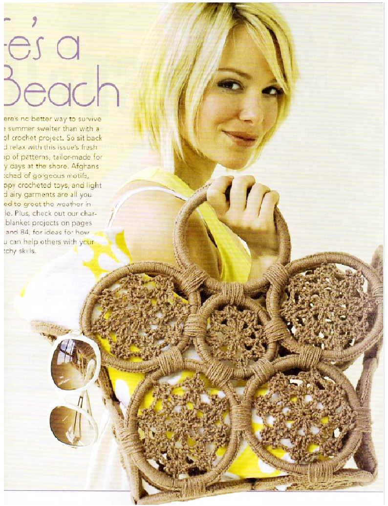 Crochet Today Magazine : Sun and Sand Tote - Beach Bag in Crochet Today! Magazine