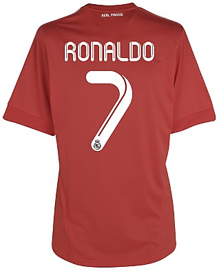 camiseta Real Madrid roja 2012 Ronaldo