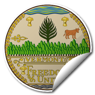 Sticker of Vermont Seal