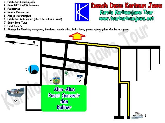 peta lokasi hotel bintang 3 dseason karimun jawa
