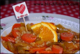 Portakallı Zeytinyağlı Pırasa nasıl yapılır?