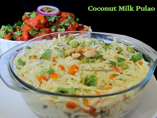Coconut Milk Pulao in Pressure Cooker
