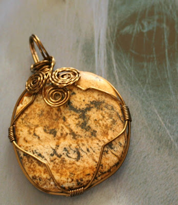Wire wrapped jasper cab :: All Pretty Things