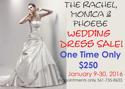 The Rachel, Monica & Phoebe Wedding Dress SALE!   Mariolka\'s Bridal ...