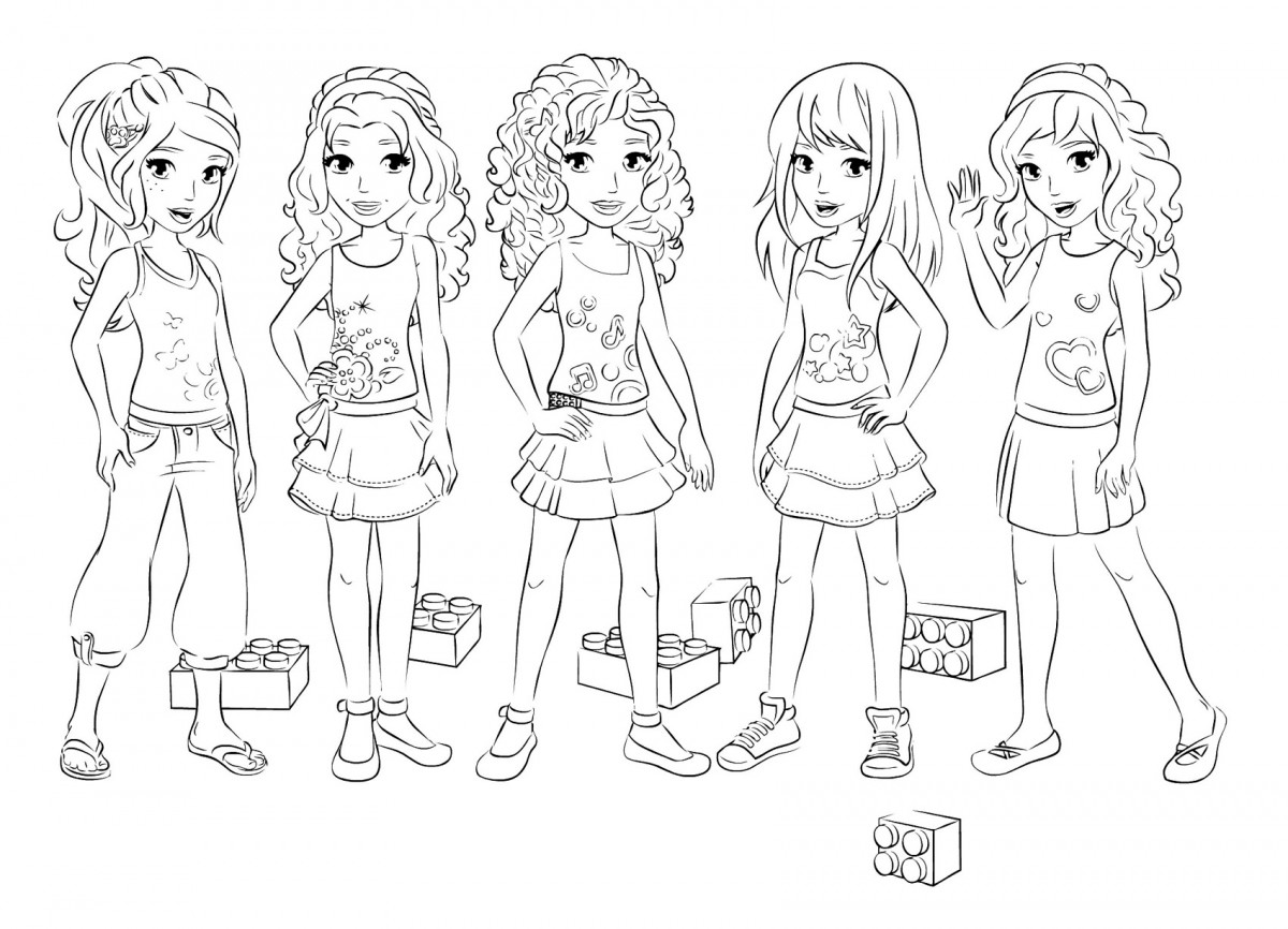 Colouring pages lego friends - Colouring Pages