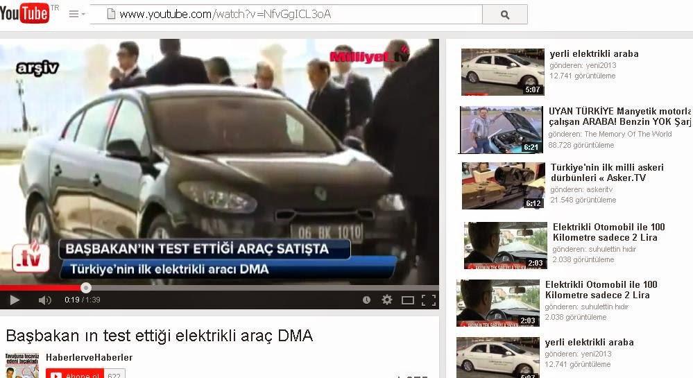 elektrikli ve yerli otomobil