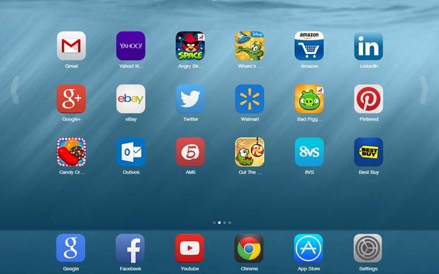 تطبيق يحول متصفح Google Chrome إلى IOS 8 مع إمكانية تشغيل عليه تطبيقات وألعاب الأيفون