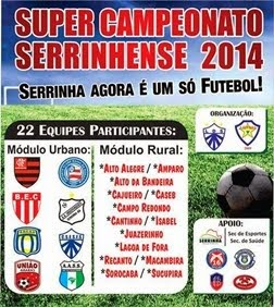 Banner  do Super Campeonato Serrinhense 2014