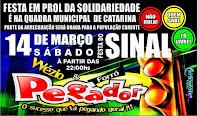 1ª Festa da Solidariedade em Catarina com Wezio e Forró Pegador.