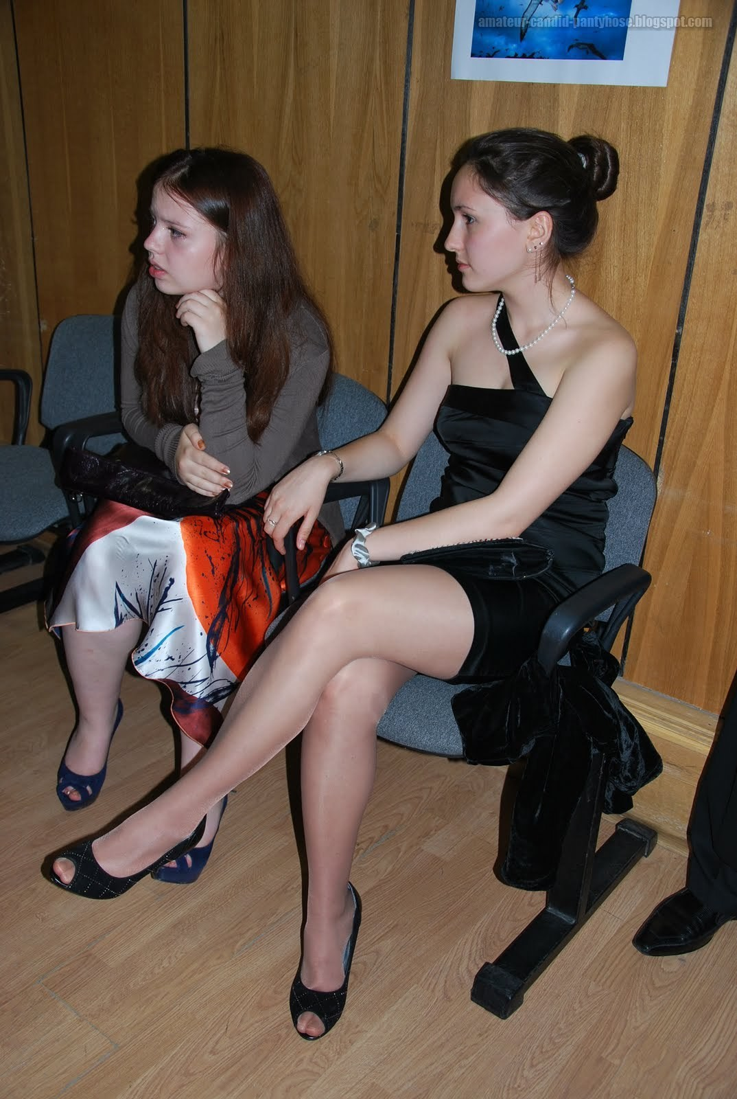 fashion tights skirt dress heels : candid amateur pantyhose 2
