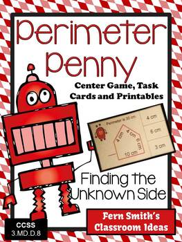 http://www.teacherspayteachers.com/Product/Perimeter-Penny-Mega-Math-Pack-Finding-the-Unknown-Side-for-the-Perimeter-1204062