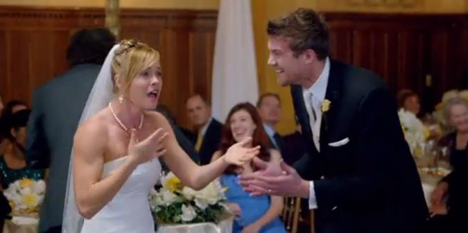 Bride reaction to sugar music video