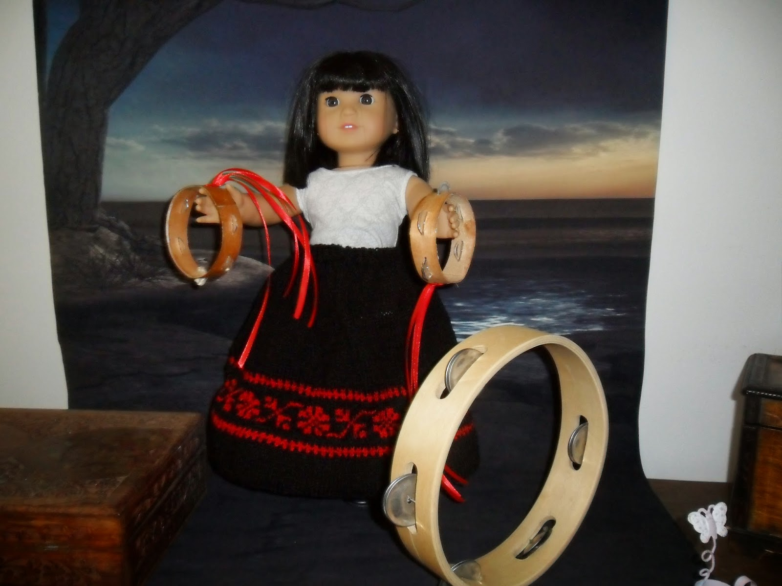 DIY doll tambourine tutorial