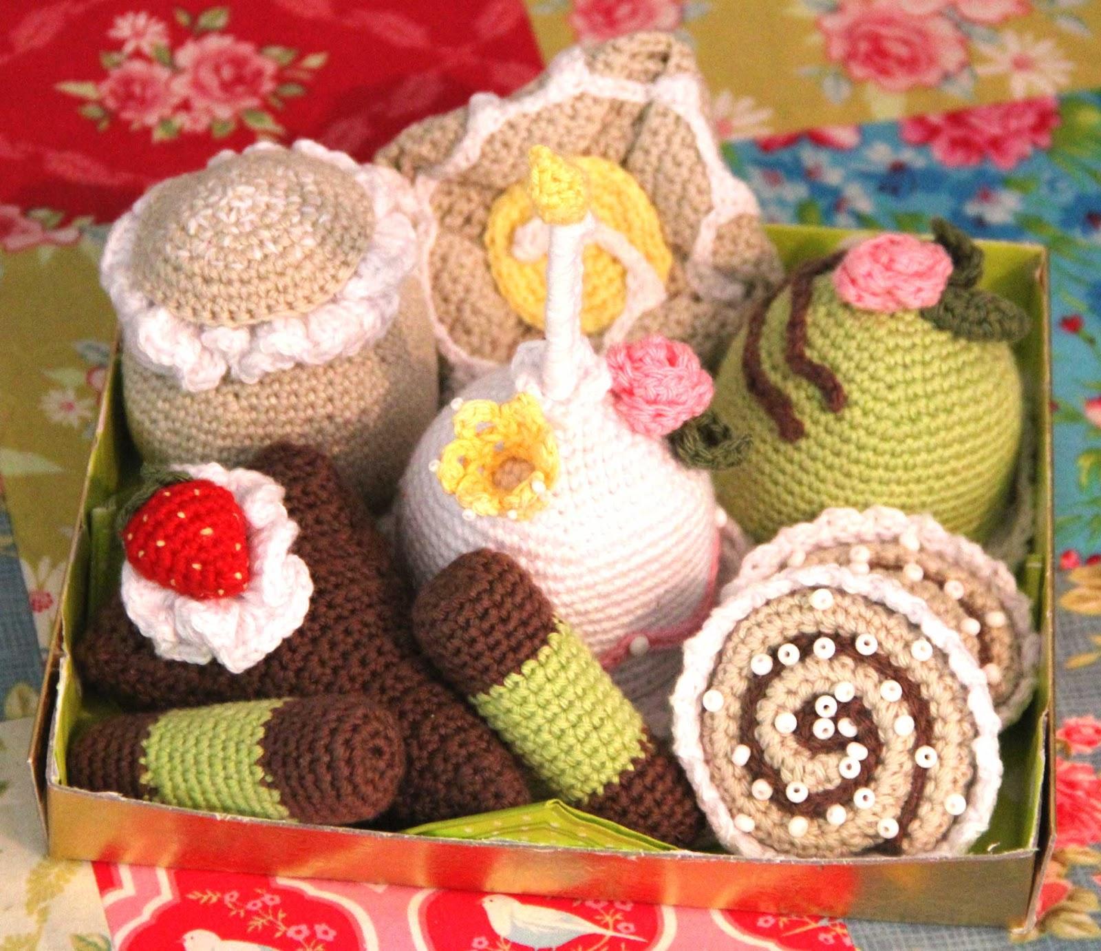 crochet pastry cake birthday baby gift patern