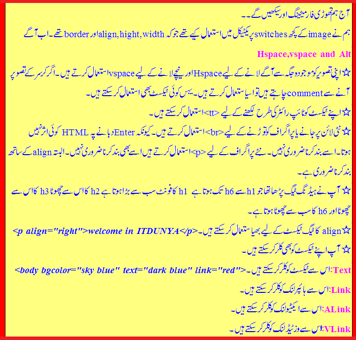 HTML Complete in URDU - Zain.Net IT Tutorials