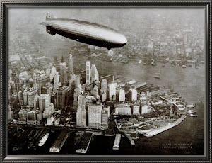 Zeppelin in volo su New York