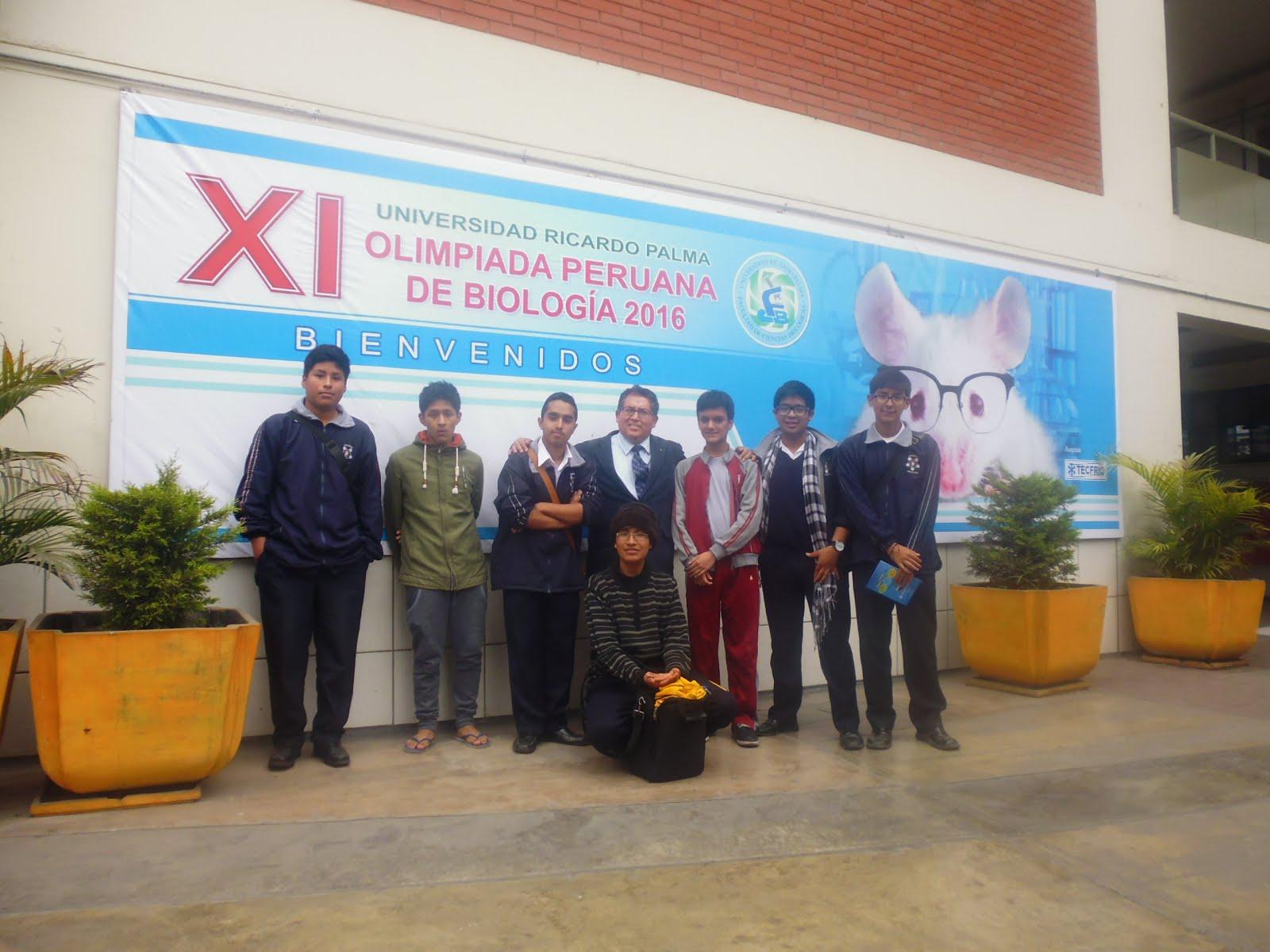 SUBCAMPEONES NACIONALES DE LAS XI OLIMPIADAS PERUANAS DE BIOLOGIA OPB 2016.