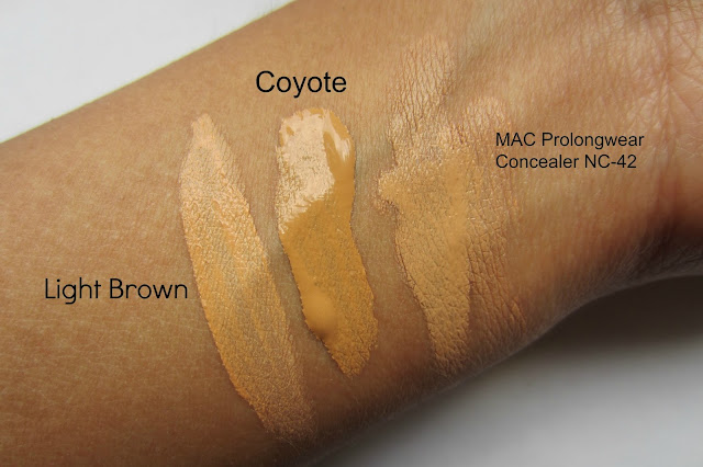 Nicka K HD Concealer Light Brown & Coyote review nc42