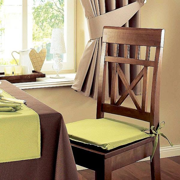Kitchen and residential design transforming the dining for Dining room chair cushions
